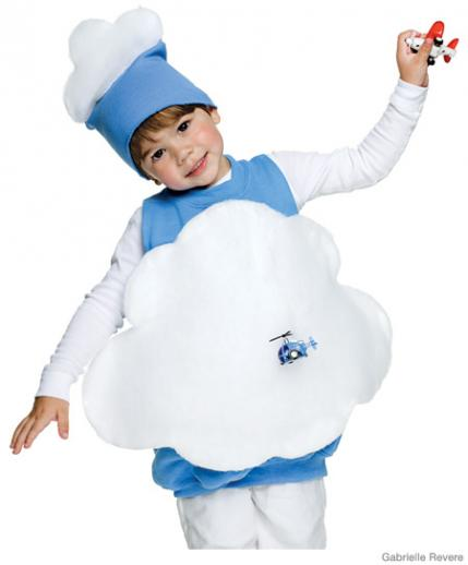 Fluffly Blue Cloud Costume All you need is an over-size pale-blue sweatshirt white felt batting string a large needle small toy airplane or helicopter ...  sc 1 st  Parenting & 35+ Easy Homemade Halloween Costumes for Kids | Parenting