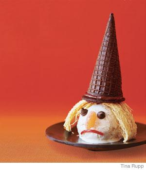Easy Halloween Recipes Ice Cream Witch