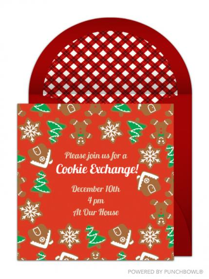 6 Festive Cookie Swap Invitations To Send This Holiday Season