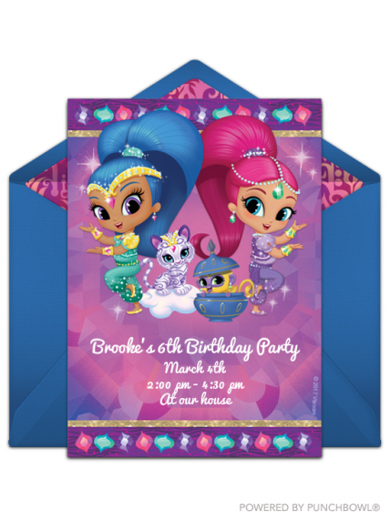 For The Littles Who Cant Get Enough Shimmer And Shine Try This Free Online Invitation Set Mood A Fun Fabulous Birthday Party When You Send