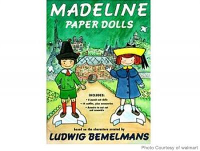 Cheap Stocking Stuffers for Kids Madeline Paper Dolls