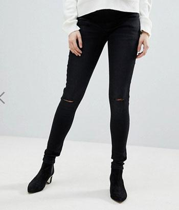 asos ripped black skinny jeans