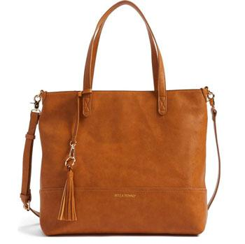 Bella Tunno faux-leather diaper bag and clutch
