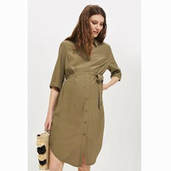 maternity shirt dress