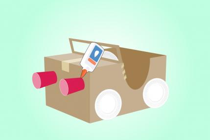 Making Race Cars Out Of Cardboard Boxes