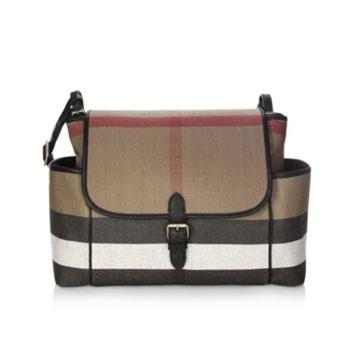 Burberry Snap Flap Diaper Bag