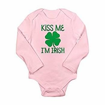 St. Patrick's Day Outfits for Baby CafePress Kiss Me I'm Irish Baby Romper