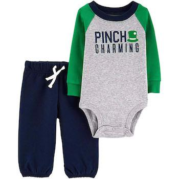 St. Patrick's Day Outfits for Baby Carter's Baby Boys' 2-Piece St. Patrick's Day Bodysuit Pant Set