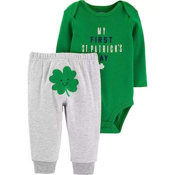 St. Patrick's Day Outfits for Baby Carter's Boys' Luckiest Baby Bodysuit and Pants Set