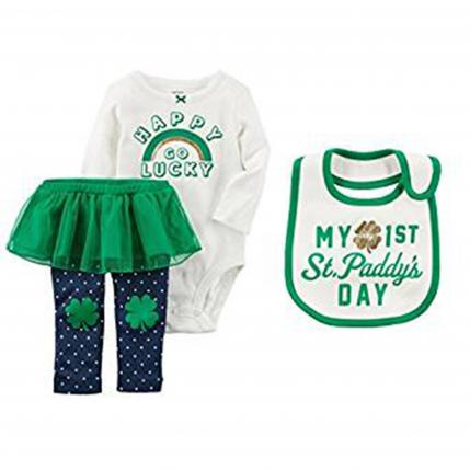 St. Patrick's Day Outfits for Baby Carter's Girl's First St. Patrick's Day Set