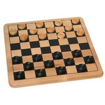 Inexpensive Christmas Gifts Wood Checkers & Tic Tac Toe