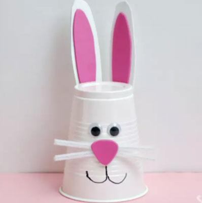 easy easter crafts bunny cup