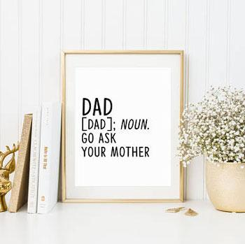 gifts for dad wall art