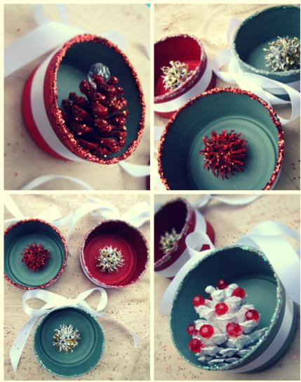 18 easy christmas crafts ornaments and gifts parenting for Christmas crafts out of tin cans