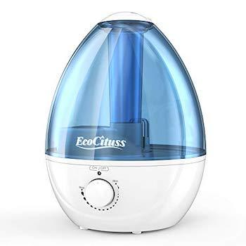Best Humidifiers for Baby Ecocituss Cool Mist Humidifier with Anti-Bacteria Stone