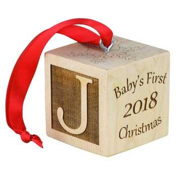 Baby Holiday Gifts Baby's First Christmas Ornament