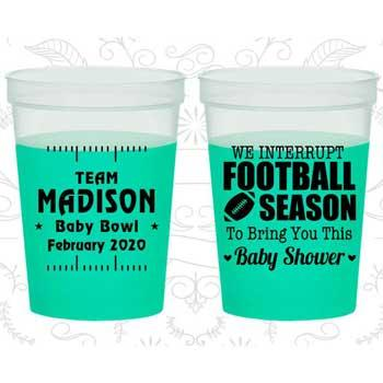 Football Baby Shower Color Changing Cups