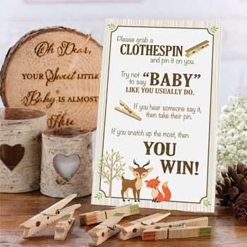 Woodland Creatures Baby Shower Game
