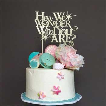 Cake Topper For Gender Reveal