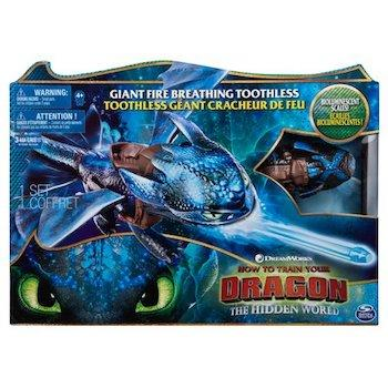 How to Train Your Dragon Toys Giant Fire Breathing Toothless Dragon