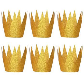 glitter crown party hats