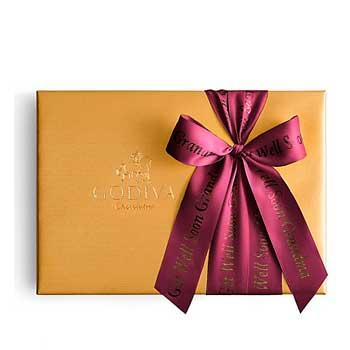 Best Gift Ideas For Moms Godiva Assorted Chocolate Gold Box With Personalized Ribbon