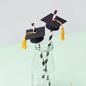 graduation party cap straws