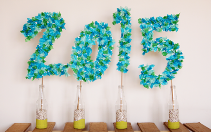 graduation party tissue paper sign