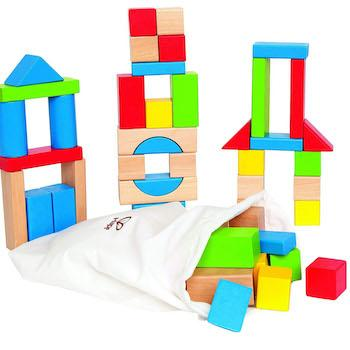 Best Gifts for 1-Year-Olds Hape Maple Wood Kid's Building Blocks