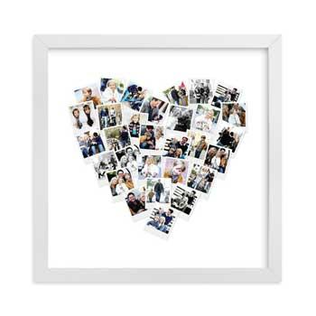 Best Gift Ideas for Moms Heart Snapshot Mix Photo Art by Minted