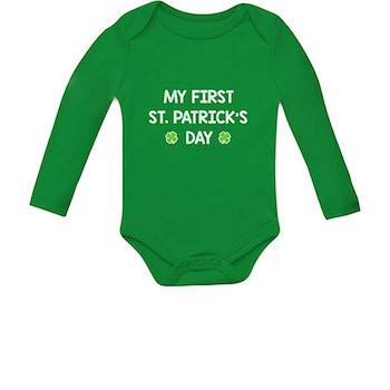 St. Patrick's Day Outfits for Baby Infant Irish Clover Bodysuit