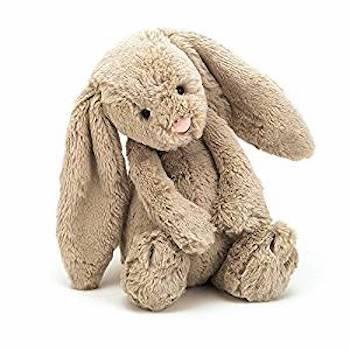 Best Gifts for 1-Year-Olds Jellycat Bashful Beige Bunny Stuffed Animal, Medium, 12 inches