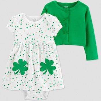 St. Patrick's Day Outfits for Baby Just One You Made by Carter's Baby Girls' St. Patricks Day Shamrock Dress Set