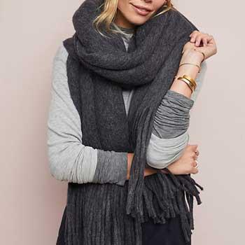 Best Gift Ideas For Moms Anthropologie Cozy Blanket Scarf