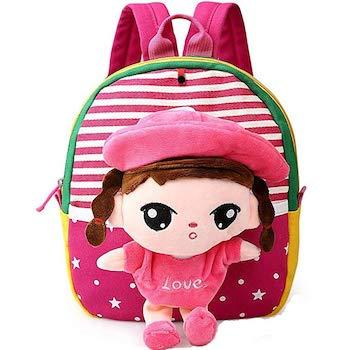 Best Valentine's Day Gift for Little Girls: MATMO 3D Cartoon Little Plush Baby Backpack and Toy Bag