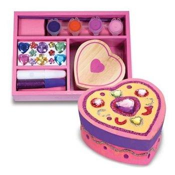 est Valentine's Day Craft Gift for Kids: Melissa & Doug Decorate Your Own Wooden Heart Box Craft Kit