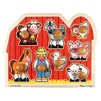 Best Gifts for 1-Year-Olds Melissa & Doug Farm Animals Jumbo Knob Wooden Puzzle