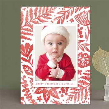 baby first christmas minted christmas card