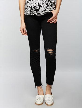 mother ankle fit maternity jeans
