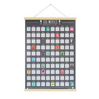 New Parents Gifts 100 Movies Scratch Off Poster