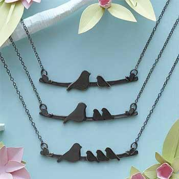 Best Gift Ideas For Moms Mother Nestling Birds Necklace
