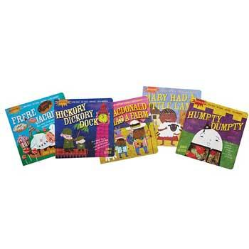 Baby Holiday Gifts Indestructible Nursery Rhyme Book Set