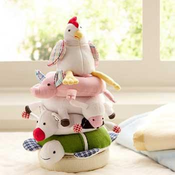Baby Holiday Gifts Pottery Barn Fun on the Farm Stacker