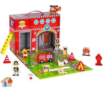 Pidoko Kids Fire Station Toy