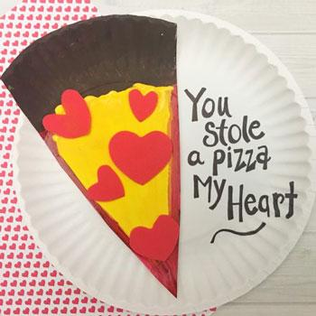 Valentine's Day Craft pizza plate craft