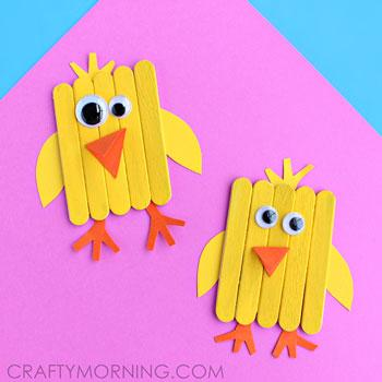 Easy Easter Crafts Popsicle Stick