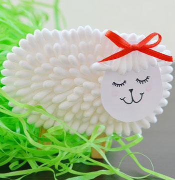 easy easter crafts qtip lamb