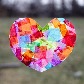 Valentine's Day Craft suncatcher
