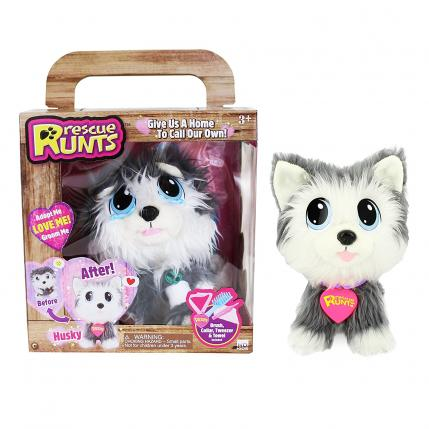 KD Kids Rescue Runts Husky Plush Dog Best Toddler Toy