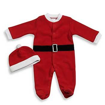 Baby Holiday Gifts babyGEAR Santa Fleece Footie